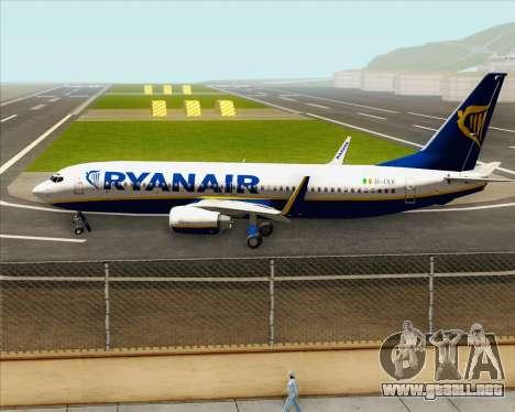 Boeing 737-8AS Ryanair para visión interna GTA San Andreas
