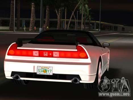 Honda NSX-R para GTA Vice City vista lateral izquierdo