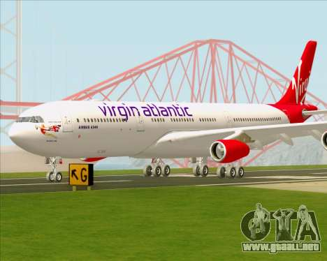 Airbus A340-313 Virgin Atlantic Airways para la vista superior GTA San Andreas