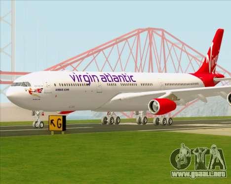 Airbus A340-313 Virgin Atlantic Airways para la vista superior GTA San Andreas