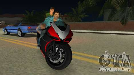 Aprilia RSV4 2009 Original para GTA Vice City vista interior