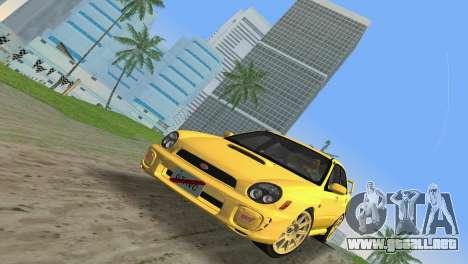 Subaru Impreza WRX 2002 Type 1 para GTA Vice City vista lateral izquierdo