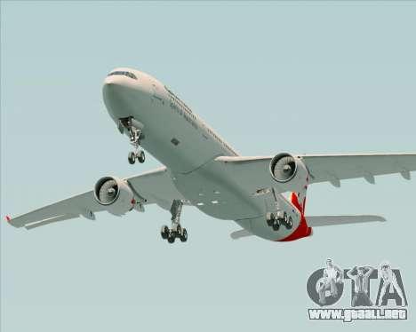 Airbus A330-300 Qantas para la vista superior GTA San Andreas
