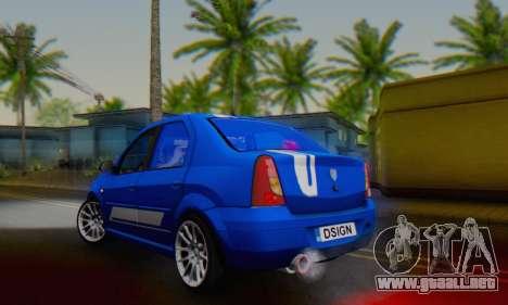 Dacia Logan Tuning Rally (B 48 CUP) para GTA San Andreas vista posterior izquierda