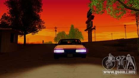 Bright ENB Series v0.1b By McSila para GTA San Andreas sucesivamente de pantalla