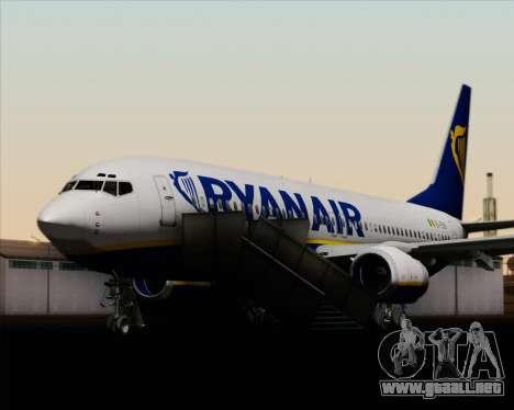 Boeing 737-8AS Ryanair para las ruedas de GTA San Andreas