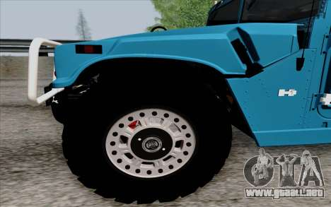 Hummer H1 Alpha 2006 Road version para GTA San Andreas left