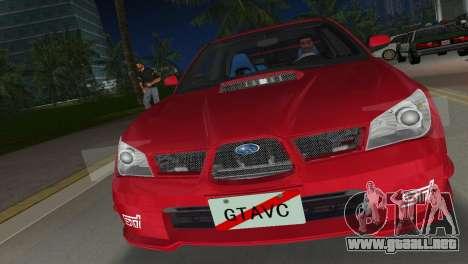 Subaru Impreza WRX STI 2006 Type 1 para GTA Vice City vista posterior