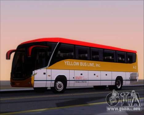 Marcopolo Paradiso G7 1050 Yellow Bus Line A-2 para vista lateral GTA San Andreas