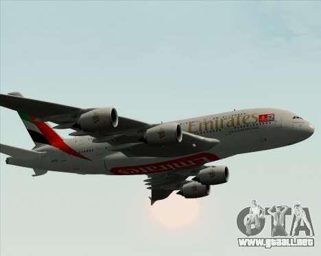 Airbus A380-841 Emirates para el motor de GTA San Andreas