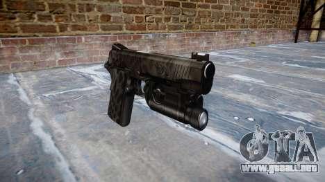 Pistola De Kimber 1911 Kryptek Tifón para GTA 4