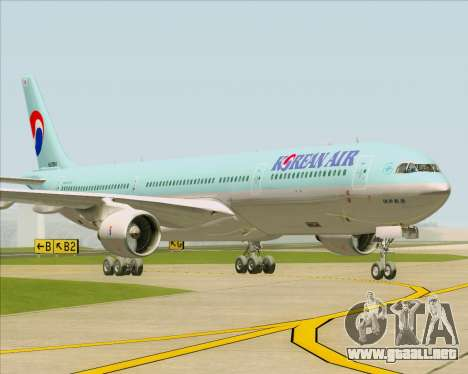 Airbus A330-300 Korean Air para GTA San Andreas vista posterior izquierda
