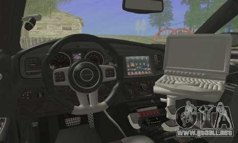 Dodge Charger ViPD 2012 para GTA San Andreas vista posterior izquierda