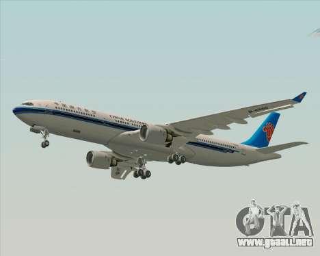 Airbus A330-300 China Southern Airlines para visión interna GTA San Andreas