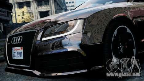 Audi RS5 2011 para GTA 4 Vista posterior izquierda