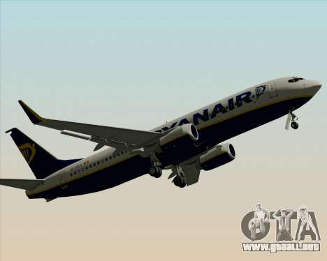 Boeing 737-8AS Ryanair para vista inferior GTA San Andreas