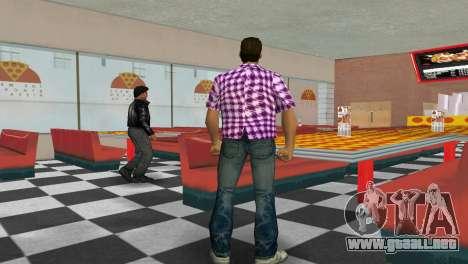 Kockas polo - rozsaszin T-Shirt para GTA Vice City tercera pantalla
