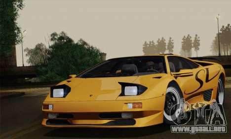 Lamborghini Diablo SV 1995 (ImVehFT) para GTA San Andreas vista posterior izquierda
