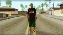 New Grove Street Family Skin v3 para GTA San Andreas