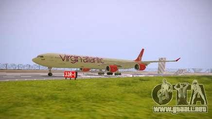 Airbus A340-600 Virgin Atlantic New Livery para GTA San Andreas