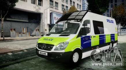 Mercedes-Benz Sprinter Police 2014 para GTA 4