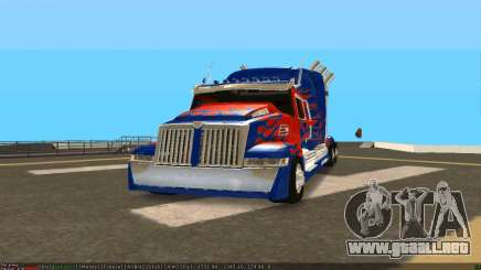 Peterbilt 379 Optimus Prime para GTA San Andreas