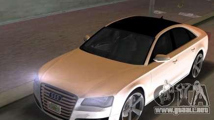 Audi A8 2010 W12 Rim3 para GTA Vice City