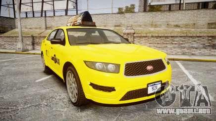 GTA V Vapid Taurus Taxi LCC para GTA 4