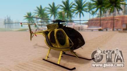 El MD500E helicóptero v2 para GTA San Andreas
