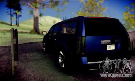 Cadillac Escalade Ninja para GTA San Andreas vista hacia atrás