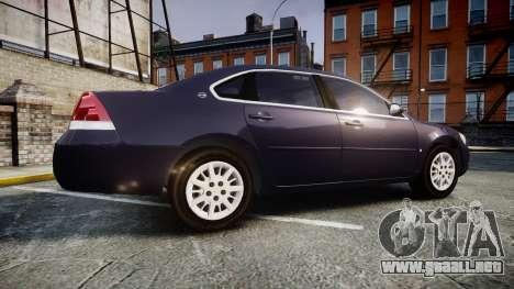 Chevrolet Impala 2010 Undercover [ELS] para GTA 4 left
