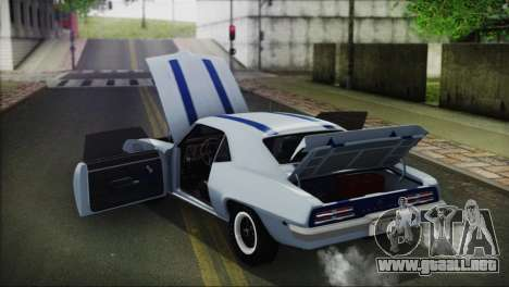 Pontiac Firebird Trans Am Coupe (2337) 1969 para visión interna GTA San Andreas