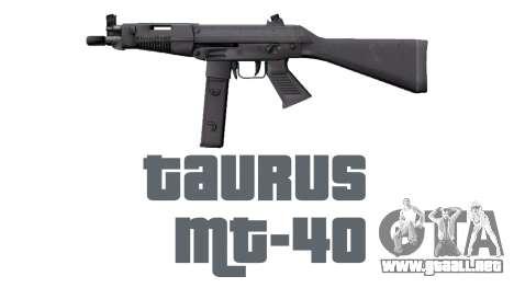 Pistola Taurus MT-40 buttstock1 icon2 para GTA 4 tercera pantalla