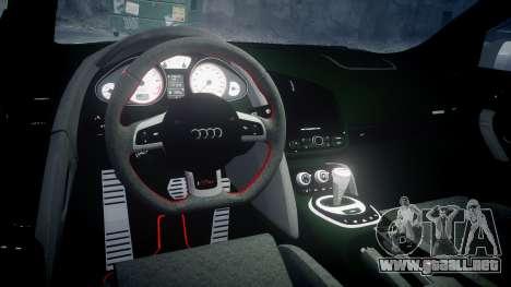 Audi R8 GT Coupe 2011 Yoshino para GTA 4 vista interior