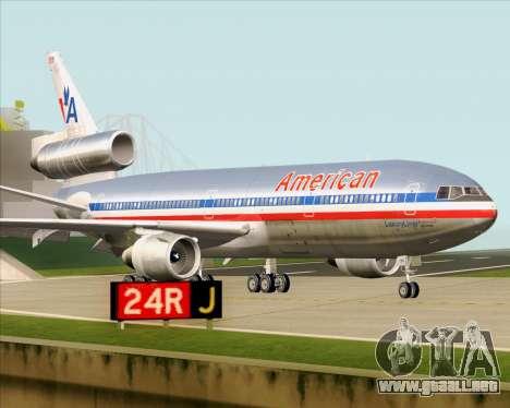 McDonnell Douglas DC-10-30 American Airlines para visión interna GTA San Andreas