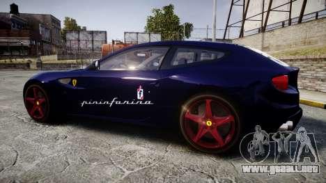Ferrari FF 2012 Pininfarina Blue para GTA 4 left
