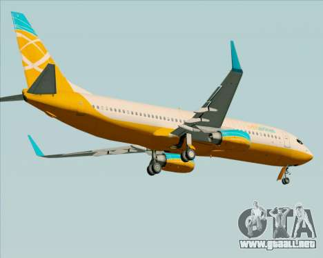 Boeing 737-800 Orbit Airlines para vista inferior GTA San Andreas