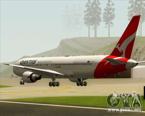 Boeing 767-300ER Qantas (New Colors) para visión interna GTA San Andreas
