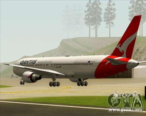 Boeing 767-300ER Qantas (New Colors) para visión interna GTA San Andreas