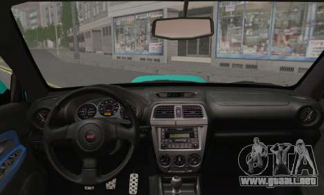 Subaru Impreza RC para GTA San Andreas vista posterior izquierda