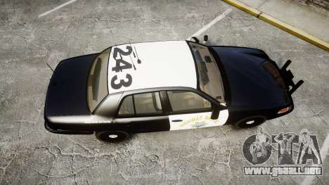 Ford Crown Victoria CHP CVPI Slicktop [ELS] para GTA 4 visión correcta