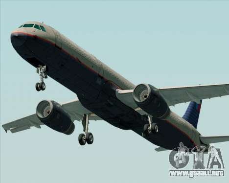 Airbus A321-200 United Airlines para visión interna GTA San Andreas