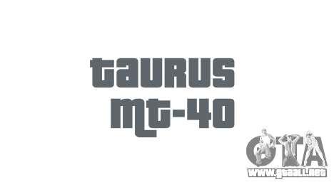 Pistola Taurus MT-40 buttstock1 icon1 para GTA 4 tercera pantalla