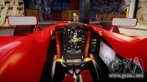 Ferrari F138 v2.0 [RIV] Massa THD para GTA 4 vista interior