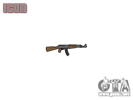 АК-47 graffiti camo para GTA 4 tercera pantalla