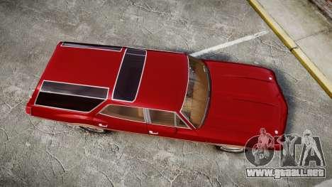 Oldsmobile Vista Cruiser 1972 Rims1 Tree2 para GTA 4 visión correcta