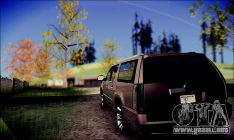 Cadillac Escalade Ninja para GTA San Andreas vista posterior izquierda