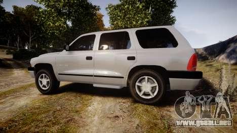 Dodge Durango 2000 Undercover [ELS] para GTA 4 left