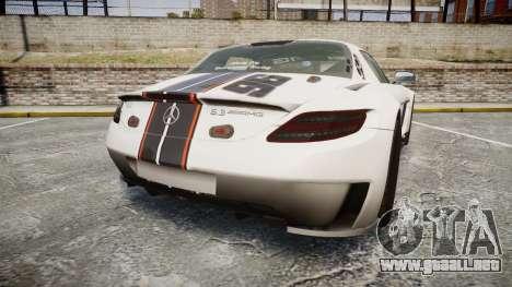 Mercedes-Benz SLS AMG GT-3 low para GTA 4 Vista posterior izquierda