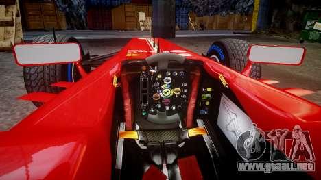 Ferrari F138 v2.0 [RIV] Massa TFW para GTA 4 vista interior